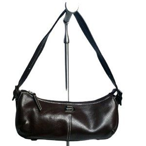 Kenneth Cole Reaction Brown Leather Chic Hobo Bag